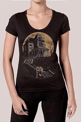 Camiseta Feminina Preta Bates Motel