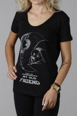 Camiseta Feminina Preta Star Wars Death Star