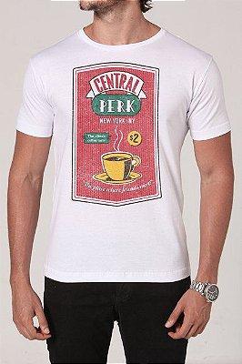 Camiseta Masculina Branca Friends Central Perk