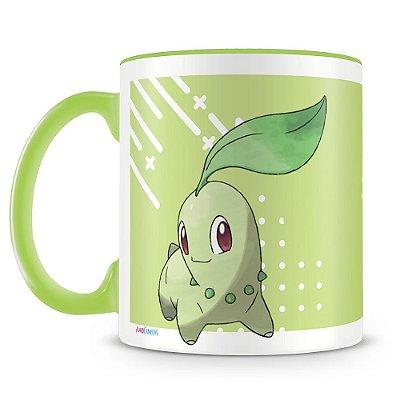 Caneca Personalizada Pokémon Chikorita