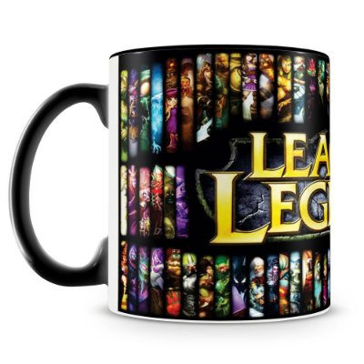 Caneca Personalizada League of Legends (Mod.1) Preta