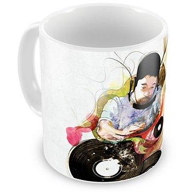 Caneca Personalizada DJ Aquarela