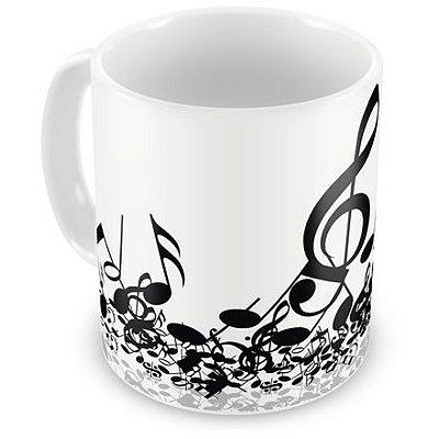 Caneca Personalizada Notas Musicais