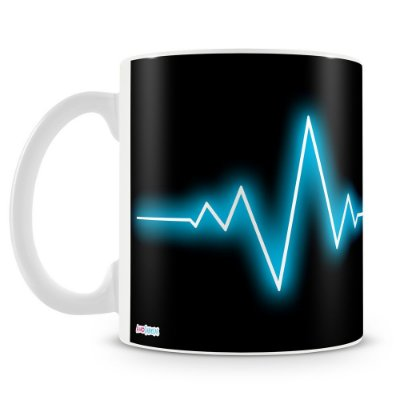 Caneca Personalizada Eletrocardiomusic