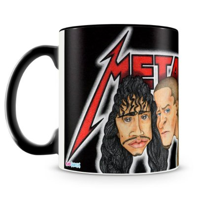Caneca Personalizada Banda Metallica (Mod.1)