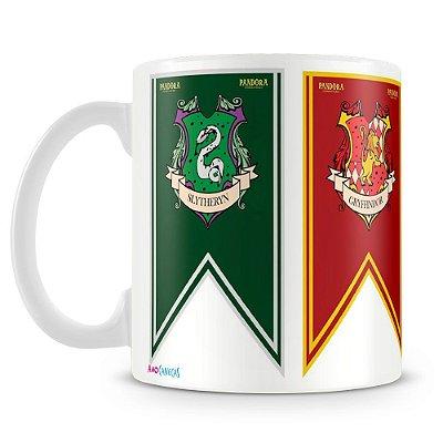 Caneca Personalizada Bandeiras Hogwarts