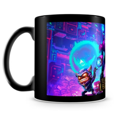 Caneca Personalizada League of Legends - Mod.4 (100% Preta)