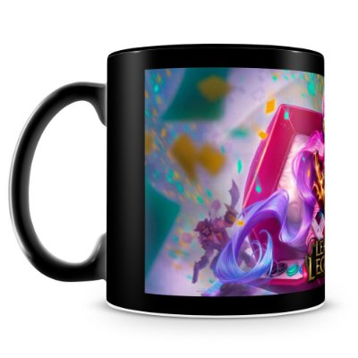 Caneca Personalizada League of Legends - Mod.5 (100% Preta)