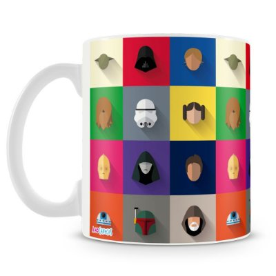 Caneca Personalizada Star Wars Personagens