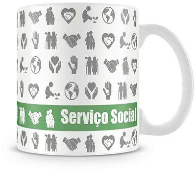 Caneca Personalizada Profissão Serviço Social