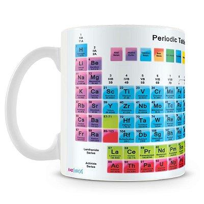Caneca Personalizada Tabela Periódica dos Elementos