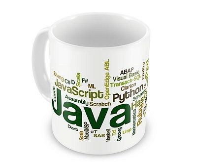 Caneca Personalizada Linguagens de Programação