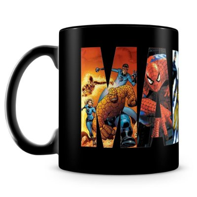 Caneca Personalizada Marvel (100% Preta)