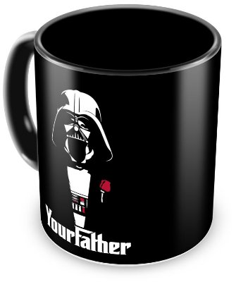 Caneca Personalizada Darth Vader Your Father (100% Preta)
