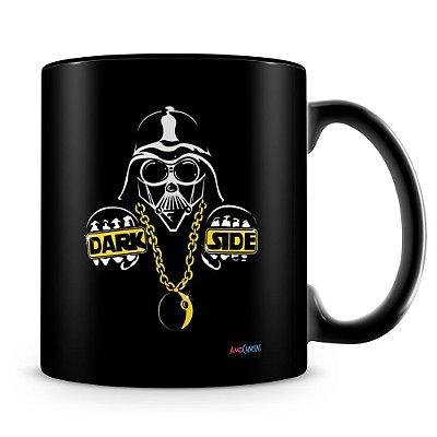 Caneca Personalizada Darth Vader Dark Side (100% Preta)