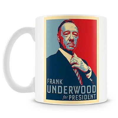 Caneca Personalizada House of Cards Frank para Presidente