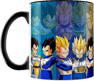 Caneca Personalizada Dragon Ball Vegeta (Preta)