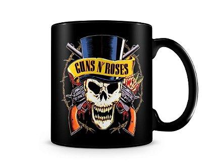Caneca Personalizada Banda Guns Roses 100% Preta (Mod.2)