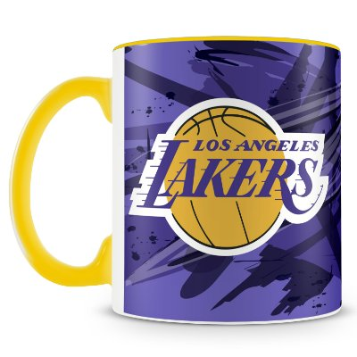 Caneca Personalizada Basquete Time Lakers