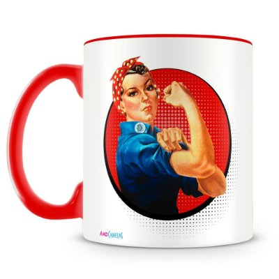 Caneca Personalizada We Can Do It (Vermelha)