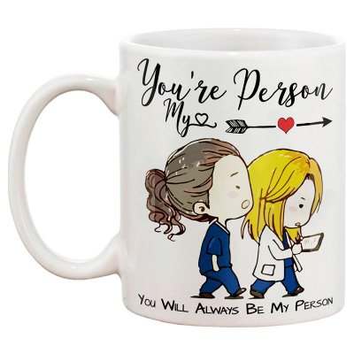 Caneca de Porcelana Personalizada Grey's Anatomy You're My Person