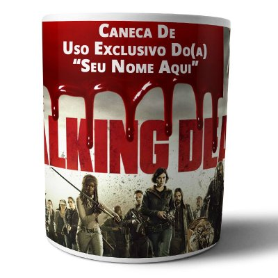 Caneca de Porcelana Personalizada The Walking Dead