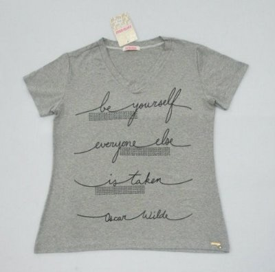 "CAMISETA T-SHIRT ""BE YOURSELF"" - Cinza Mescla"