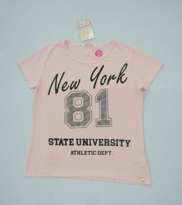 "CAMISETA T-SHIRT ""NYC 81"" - Rosa Crystal"