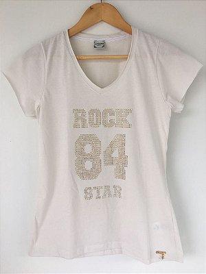 """T-SHIRT """"Rock Star"""" - Areia"""