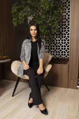 BLAZER NEOPRENE ANIMAL PRINT - CINZA