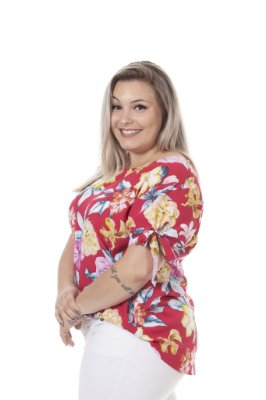 BLUSA VISCOSE ESTAMPADA PLUS SIZE