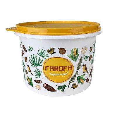 Tupperware Caixa Farofa Floral 500g