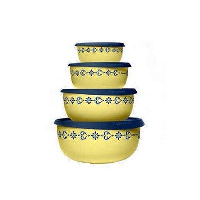 Tupperware Kit Tigelas Toque Magico Arabesco 4 peças