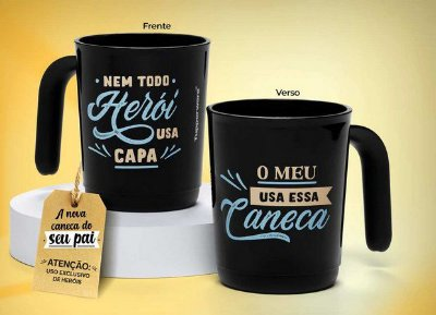 Tupperware Caneca Ilumina Pai Heroi 350 ml - 1 peça