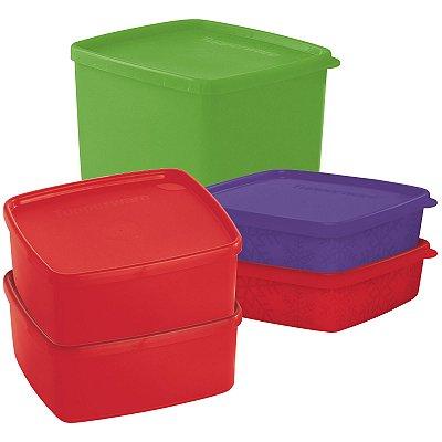 Tupperware Kit Freezer Linha Jeitosos - 5 peças
