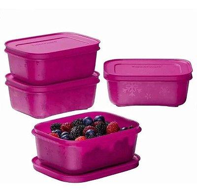 Tupperware Kit Freezer Line açai 450 ml -4 peças