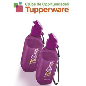 Tupperware Eco Tupper Garrafa Quadrada Fonte da Juventude 500ml