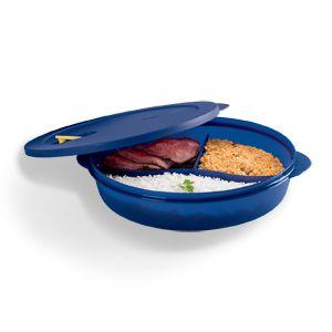 Tupperware Cristalwave com Divisórias Azul