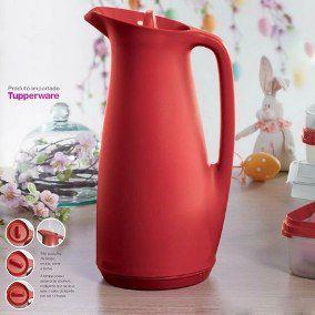 Tupperware Garrafa Termica Vermelha 1 Litro