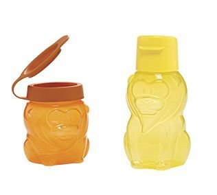TUpperware ECO KIDS LEÃO + TUPPER LEÃOZINHO  350ML + 300ML