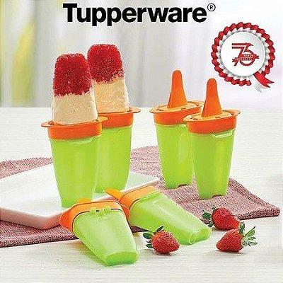 Forma para Picole Express Tupperware Kit com 4 unidades
