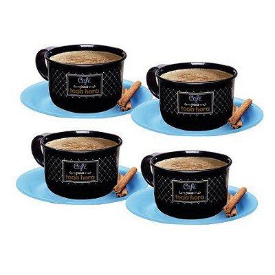 Tupperware Xícara de Café Bistrô 150ml - Conjunto 4 peças