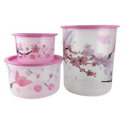 Tupperware Instantânea Flor de Cerejeira- Kit 3 Peças