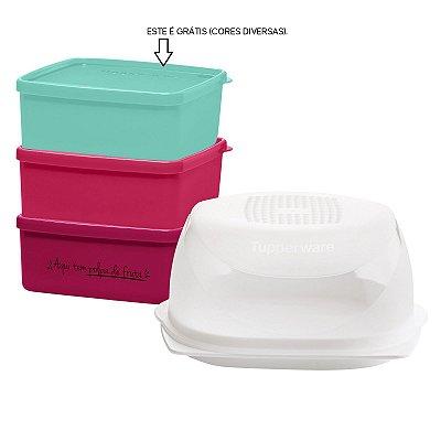 Tupperware Kit Utilidades Queijeira Mini + 3 Jeitosinhos 400 ml cada