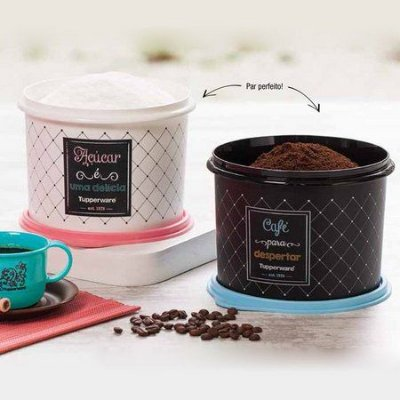 Tupperware Kit Café e Açúcar Bistrô