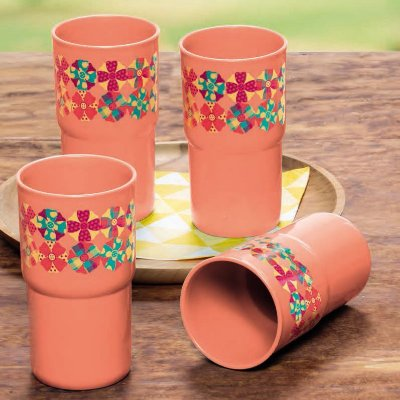Tupperware Copo Colors Fuxico 350 ml cada