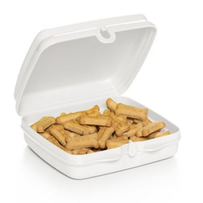 POrta Snack Tupperware Quadrado