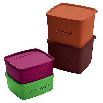 Tupperware Linha Freezer -  2 Jeitosos + 2 Jeitosinhos