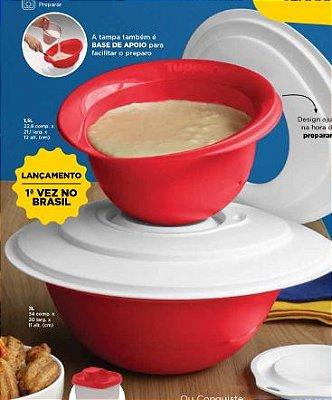 Tupperware Kit Batedeira Pró Vermelha 2 peças - 3 litros + 1,5 Litros
