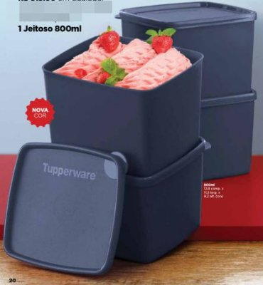 Tupperware Jeitoso Cinza 800 ml